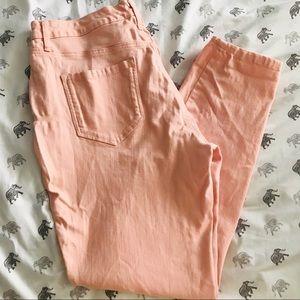 Nine West light pink peach jeans Missy 10 skinny